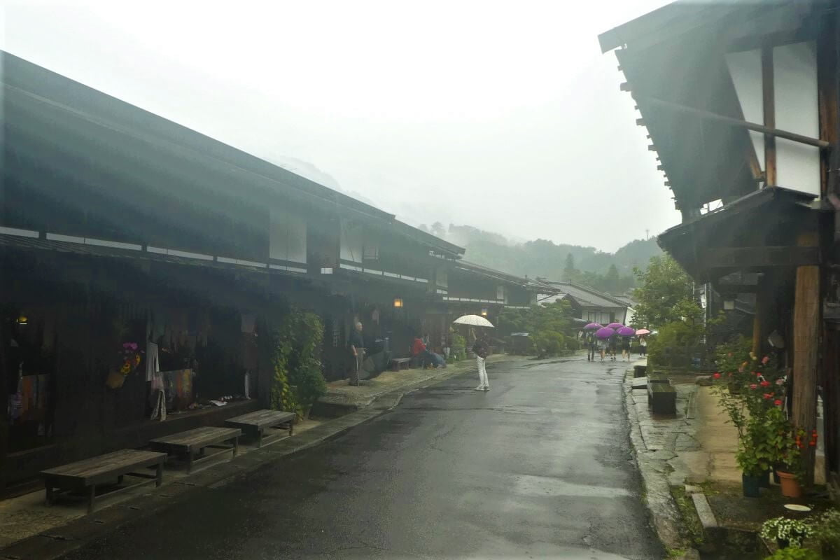 The little village of Tsumago in Japan