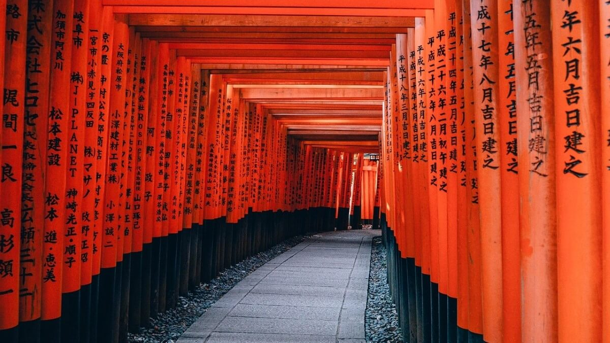 The Fushimi Inari Taisha Temple in Tokyo, Japan