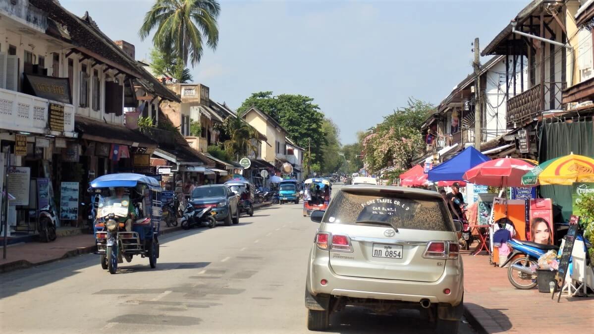 The center of Luang Prabang, Laos