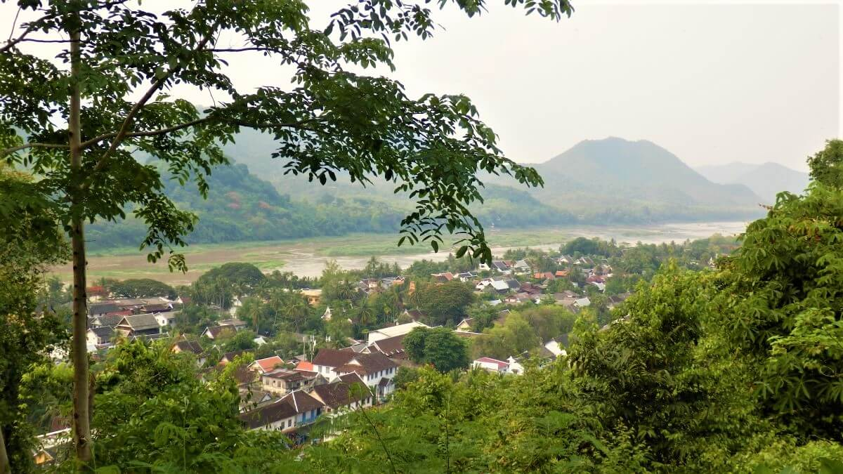 The historical center of Luang Prabang in Laos