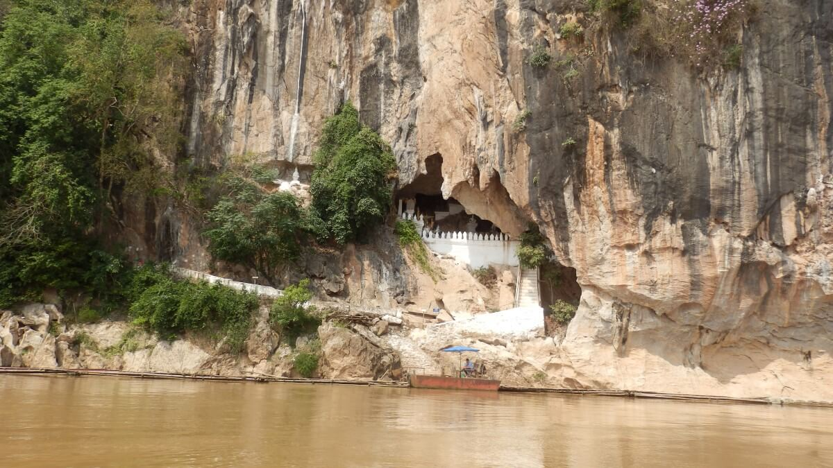 The Pak Ou Caves on the Mekong in Laos