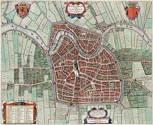 Map of Haarlem, The Netherlands