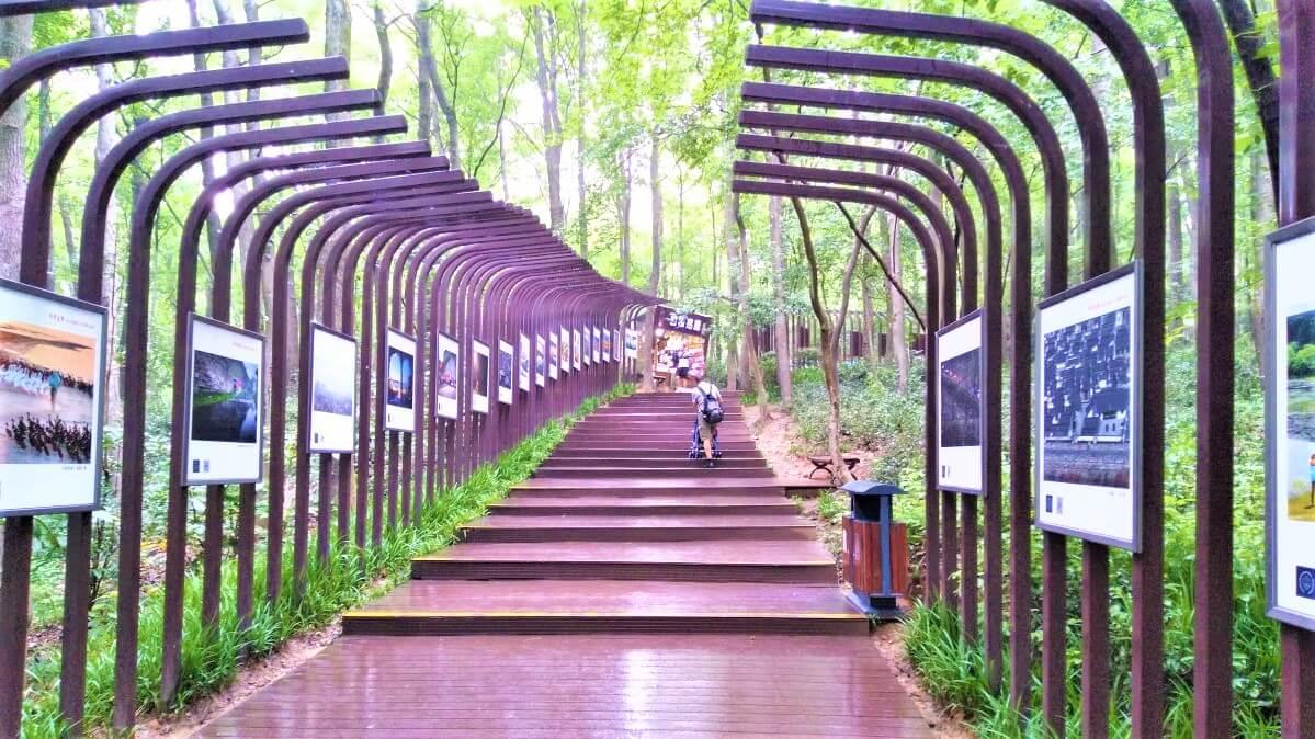 Entrance to the Sun Yat-Sen Mausoleum in Nanjing, China
