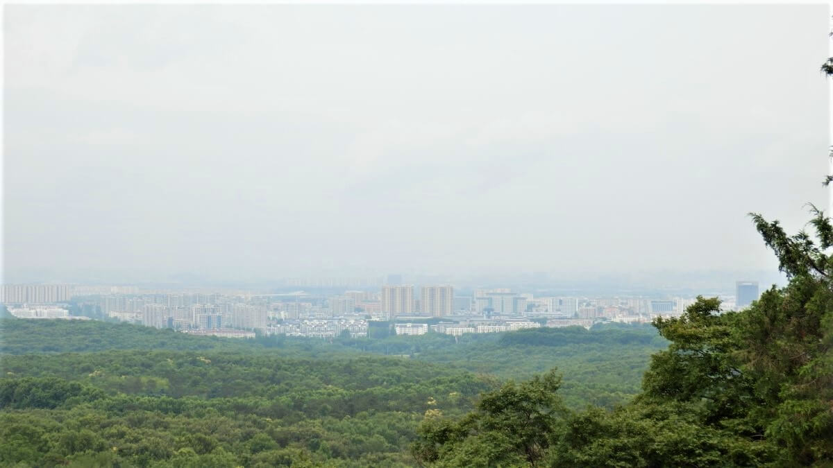 View of the city of Nanjing, China