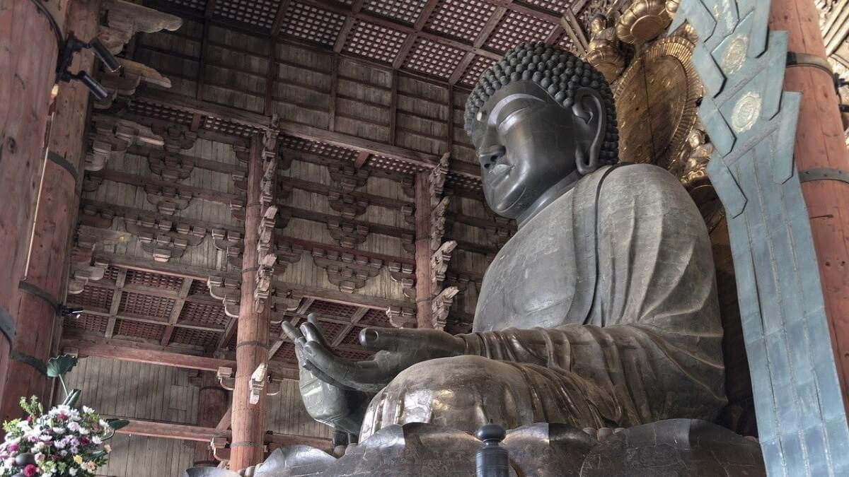 The great Buddha of Todai-ji Temple
