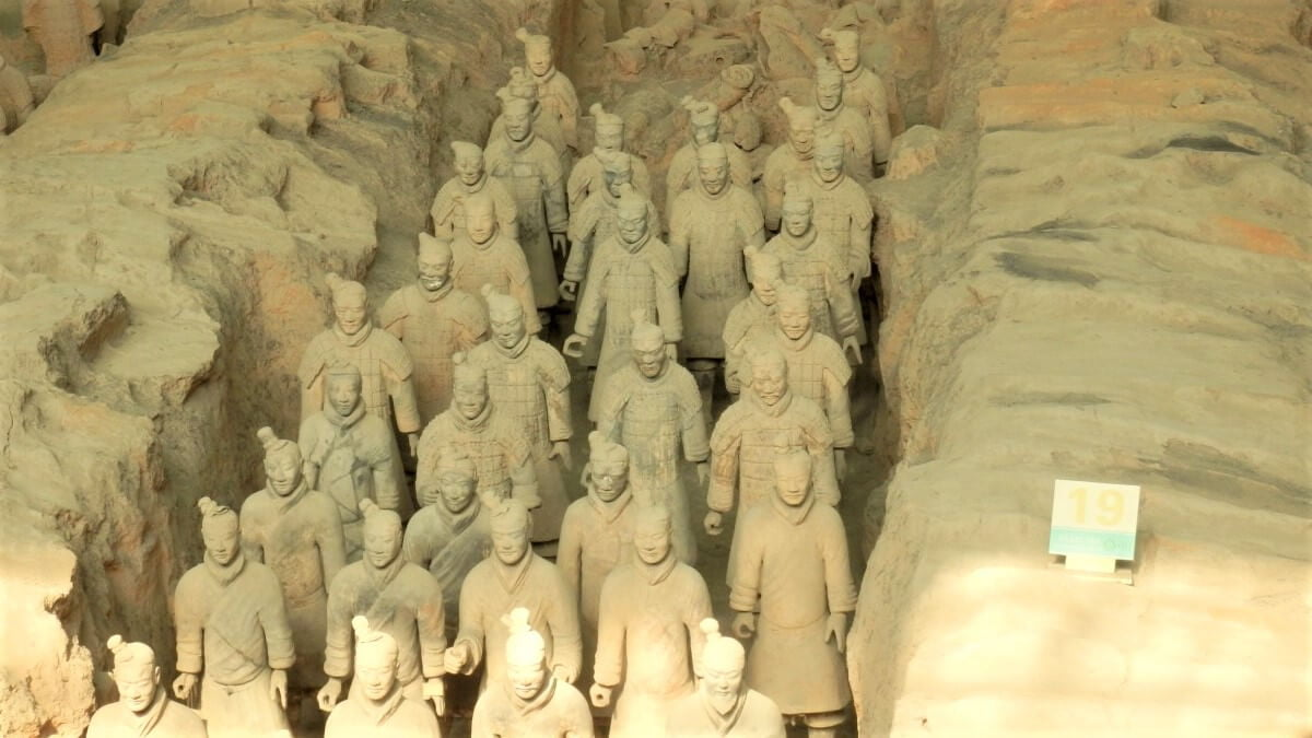 8000 soldiers of the Terracotta Army in China