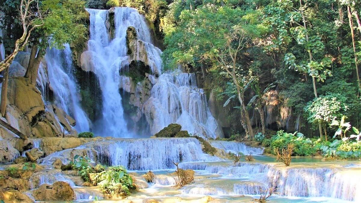Tat Kuang Si Falls in Laos