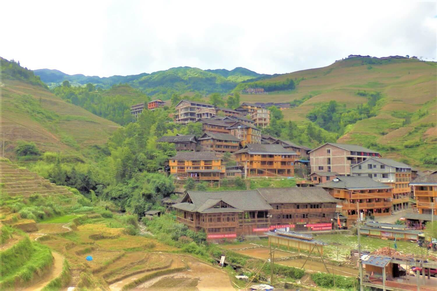 The village of Dazhai at the Jinkeng Rice Fields