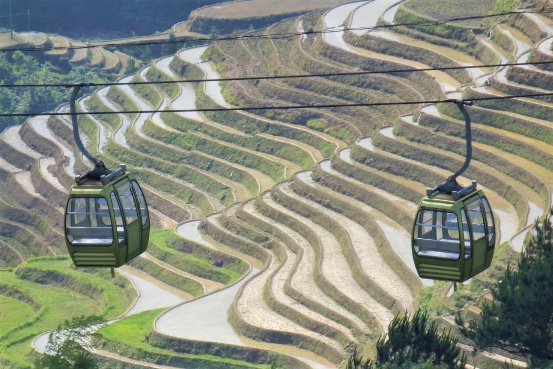 The Cable Car at Dazhai, China
