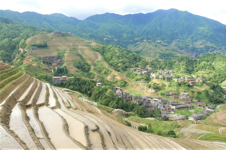 Viewpoint of the Longsheng Rice Fields in Guangxi, China