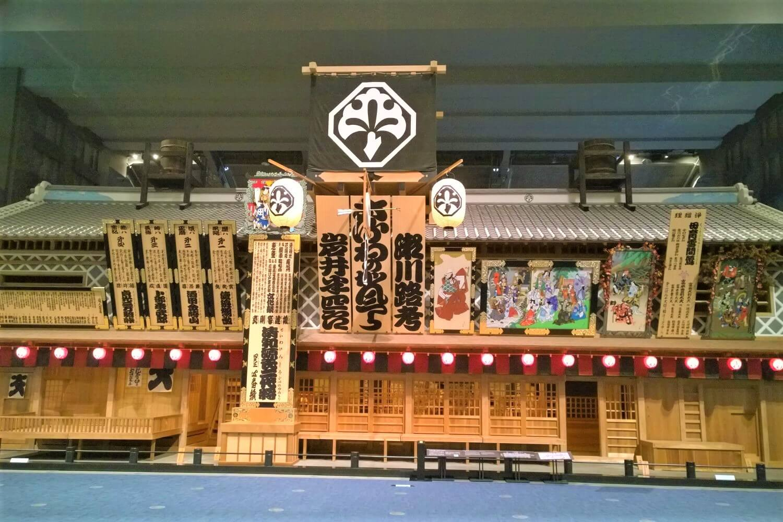 An old Kabuki Theater in the Edo-Tokyo Museum, Japan