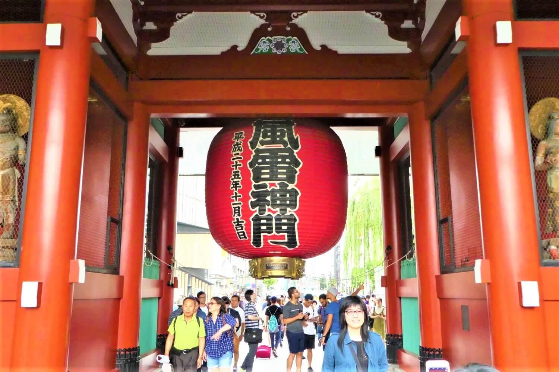 The Kaminarimon Gate in Asaksua, Tokyo