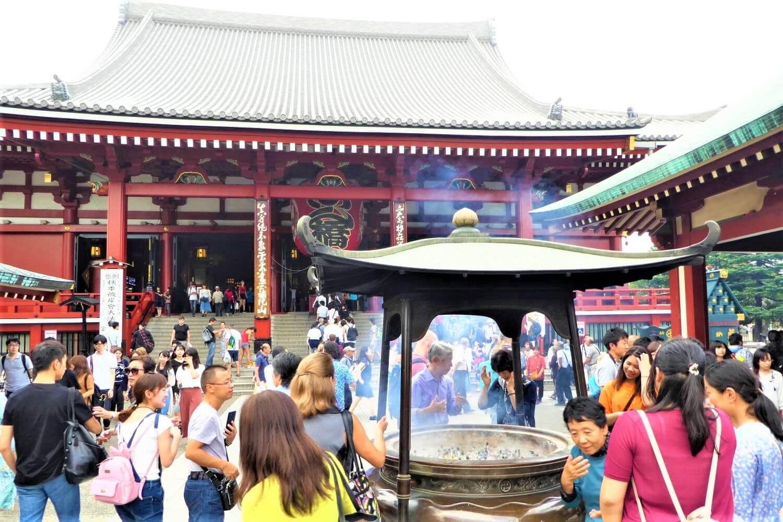 Incense at the Sensoji Temple, Japan