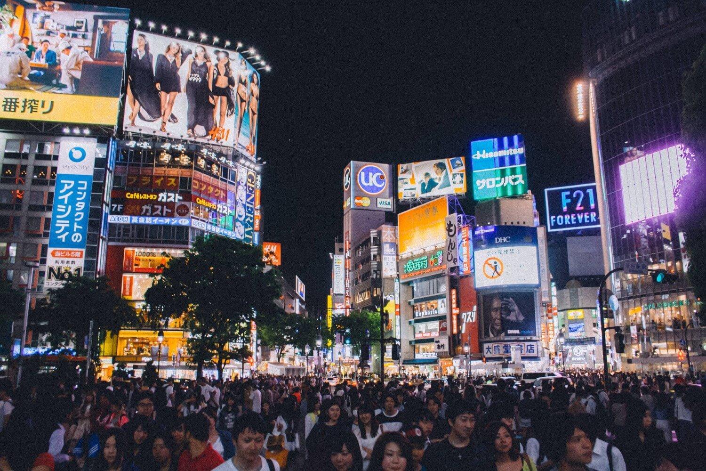 Shibuya Crossing by night