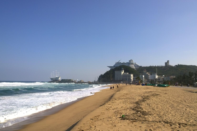 Jeongdongjin Beach in South Kora