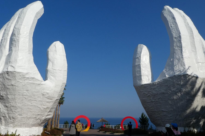 Sculpture park at Sun Cruise Resort in South Korea