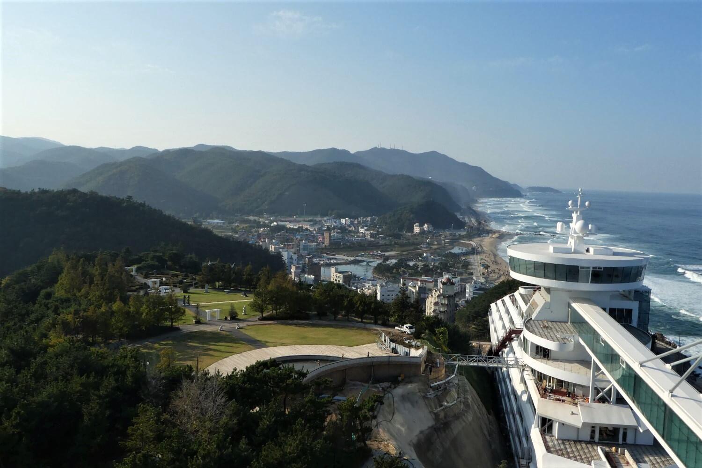 View of Jeongdongjin in South Korea