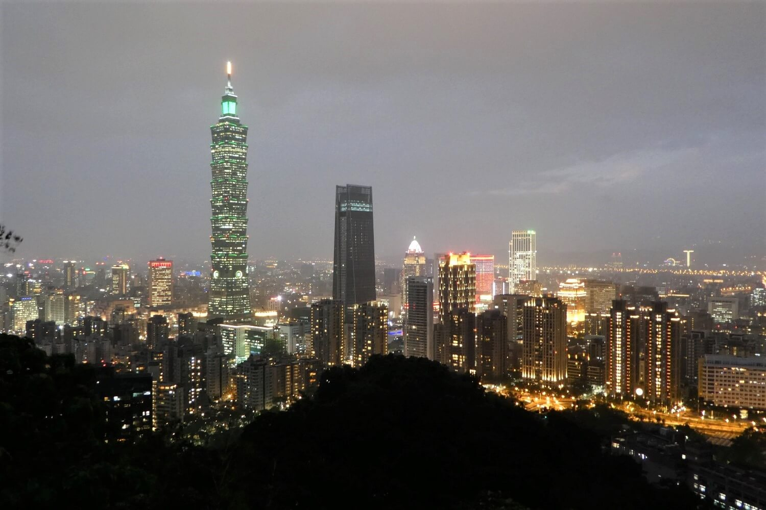View from the Elephant Hill in Taipei