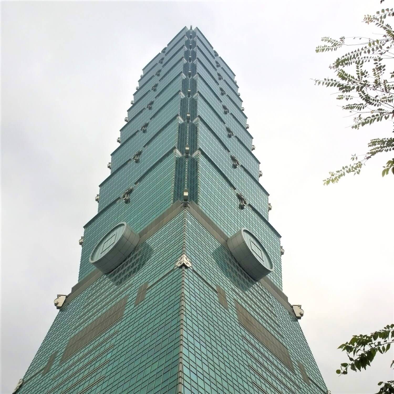 A close up of the Taipei 101