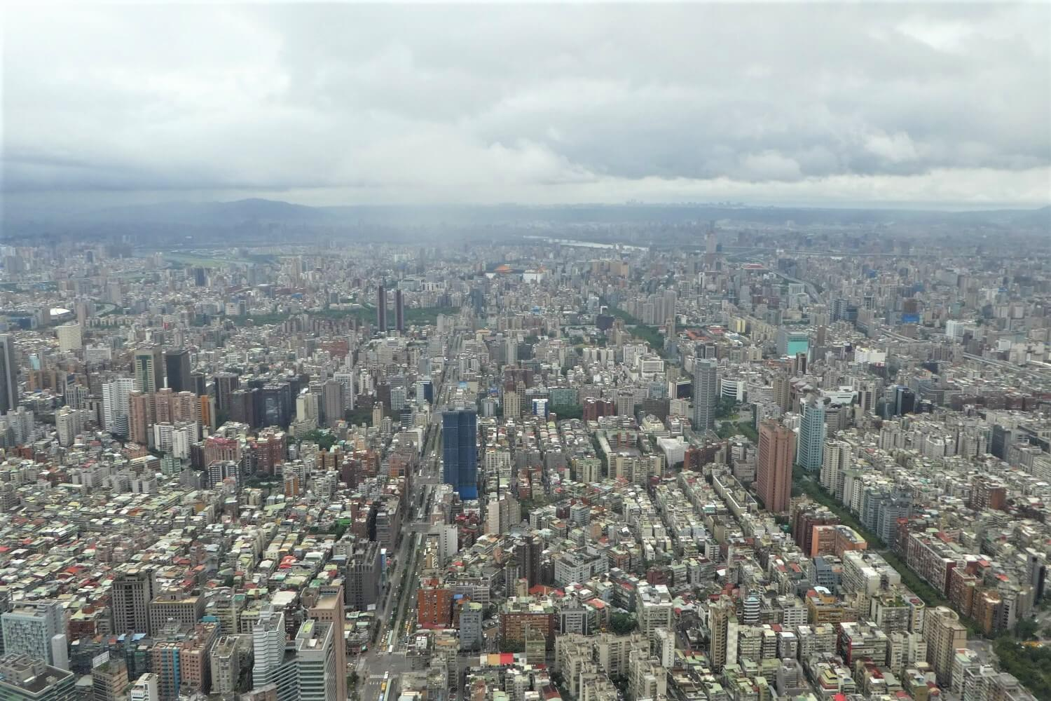 View from the Taipei 101 in Taiwan