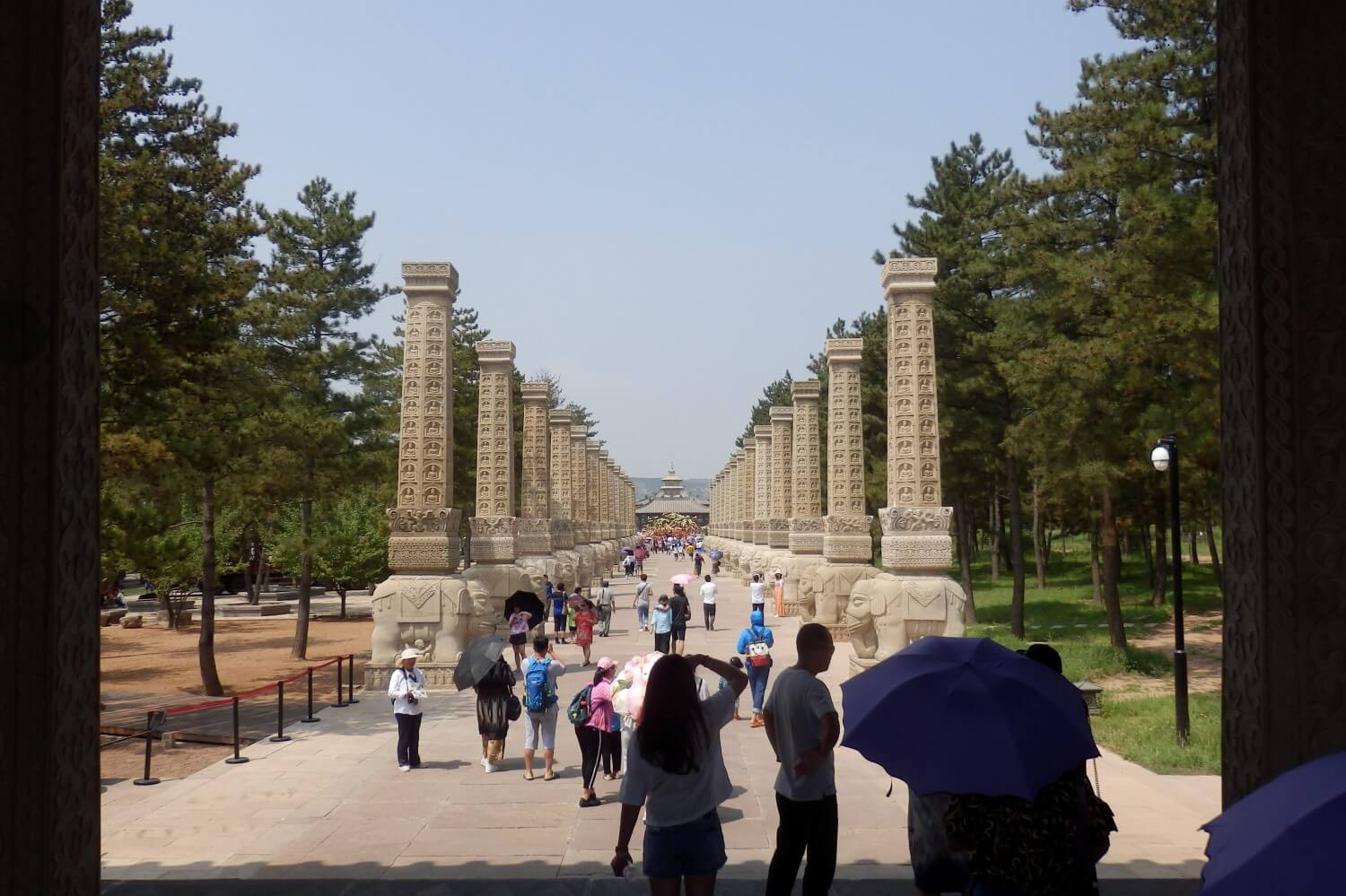 The entrance to the temple in Yungang Park, China