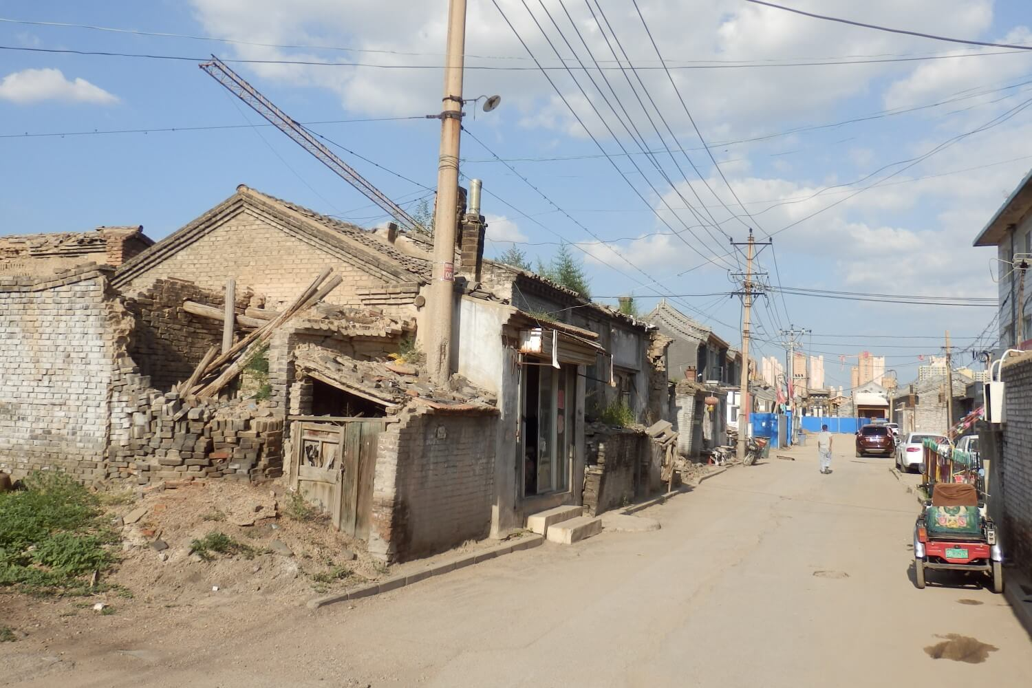 Part of the old inner city of Datong, China