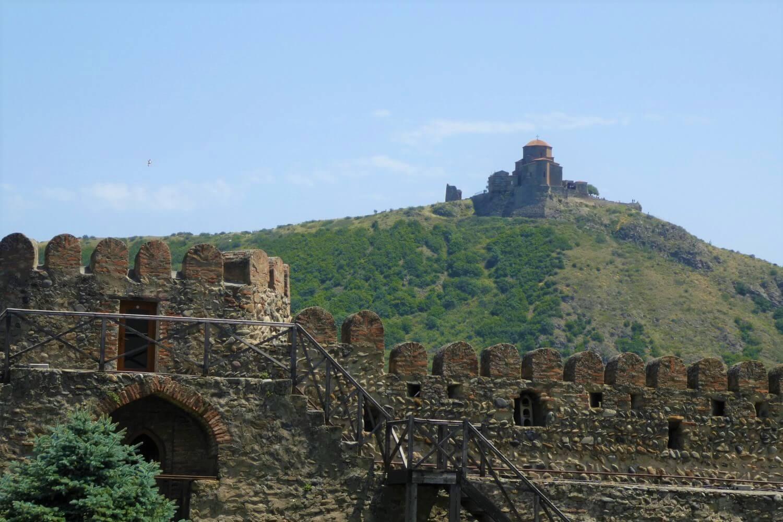 View from Mtskheta to the monastery of Jvari
