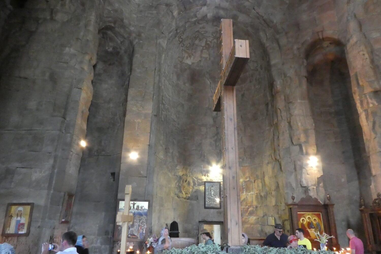 The interior of the Jvari Monastery in Georgia