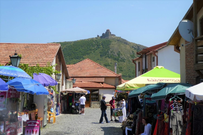 The city center of Mtskheta in Georgia