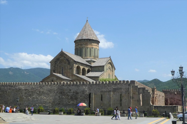 The Svetotskhoveli Cathedral in Mtskheta, Georgia