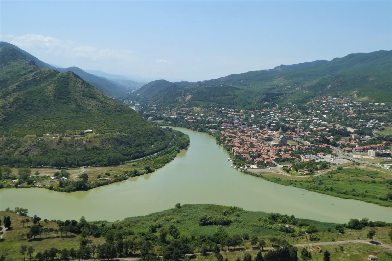 The view of Mtskheta from the Jvari Monastery