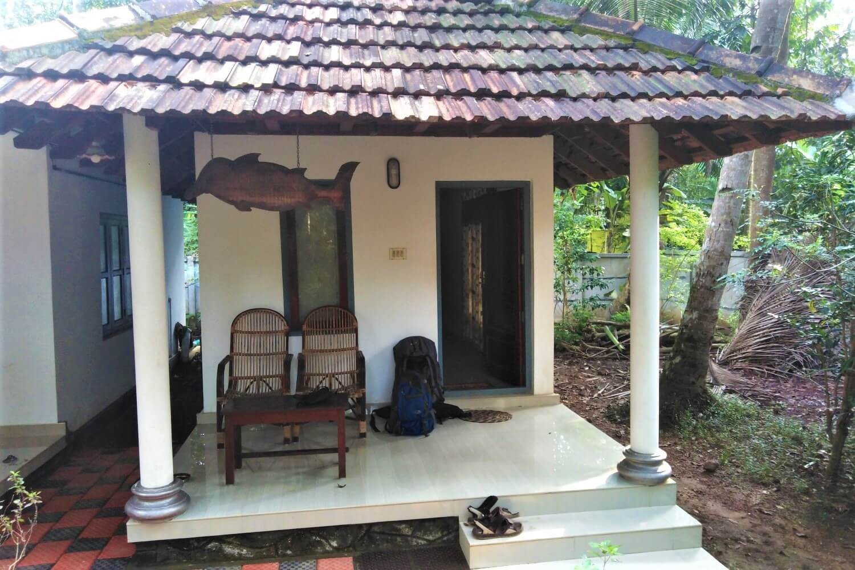 My accommodation at Munroe Island, India