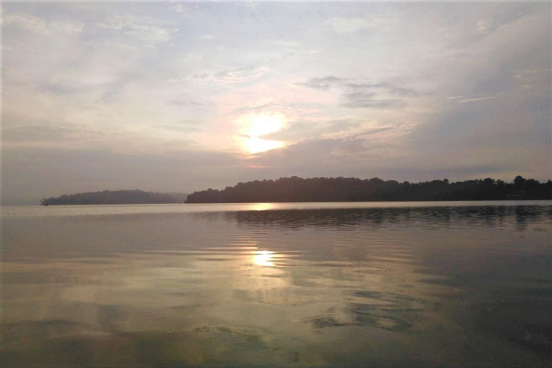 Sunrise at Munroe Island in Kerala
