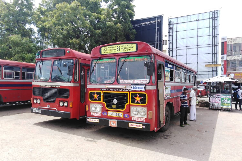 The bus station of Jaffna, Sri Lanka