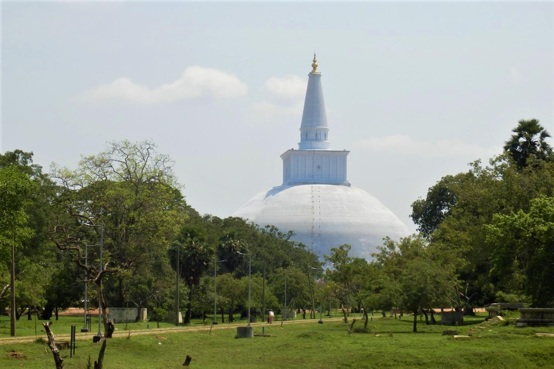 A stupa in Anuradhapura, Sri Lanka