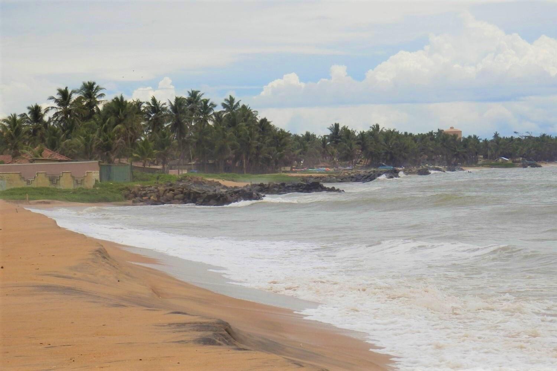 The beach of Negombo in Sri Lanka