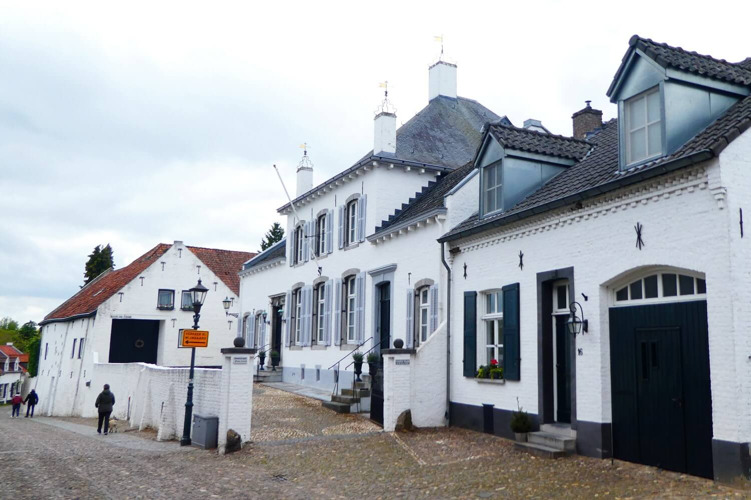 The white houses of the white town in Limburg