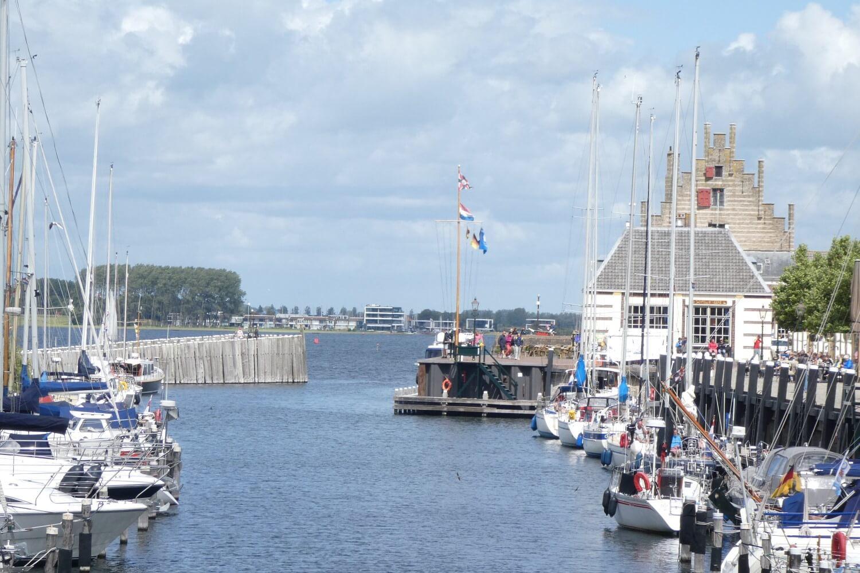 The harbor of Veere in Zeeland