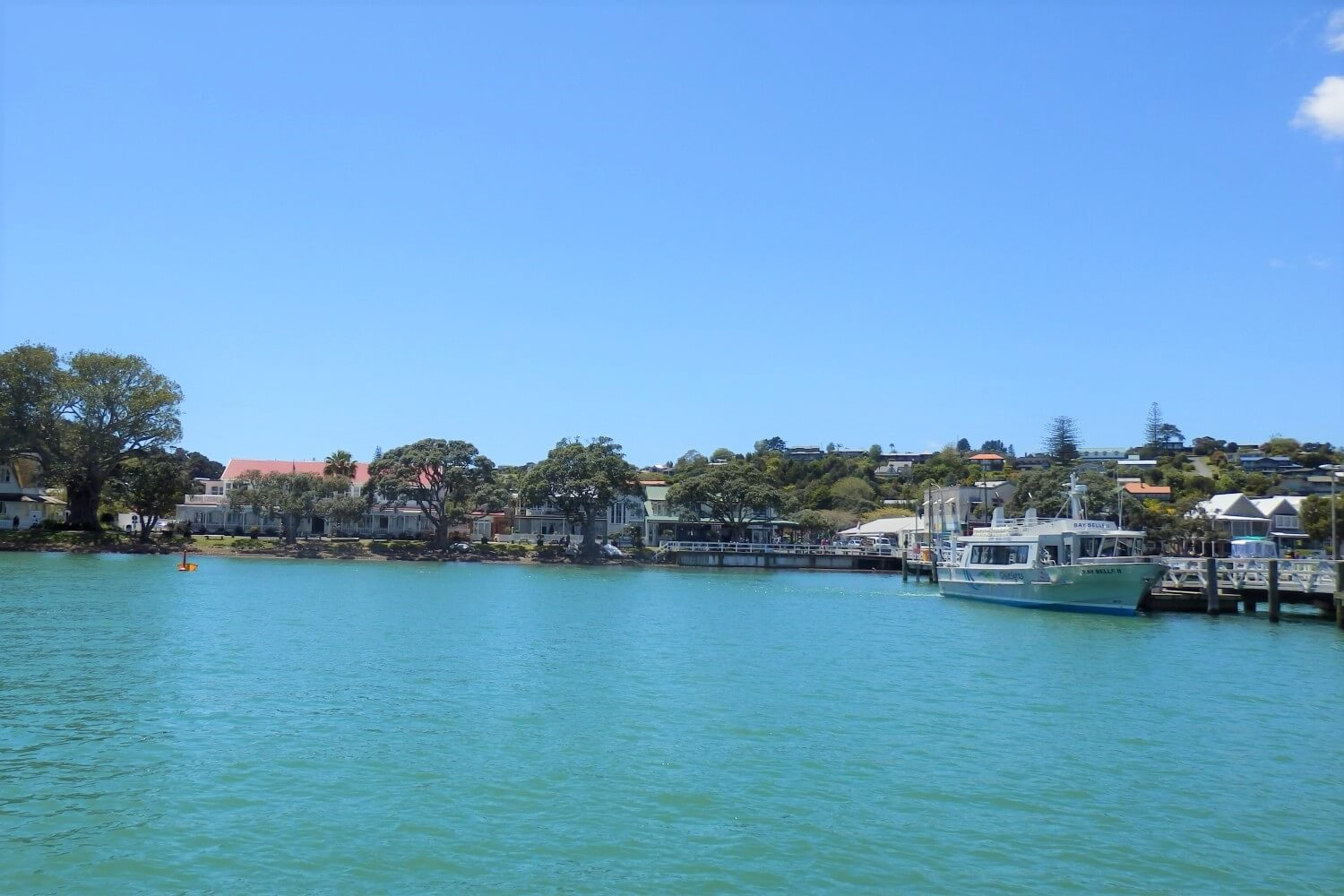 The port of Paihia in the Bay of Islands