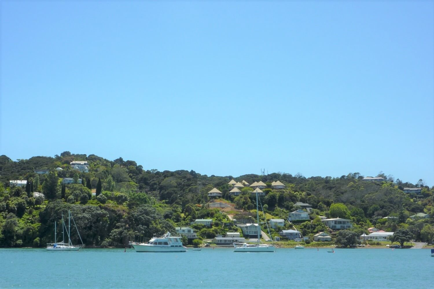 The town of Russell in the Bay of Islands