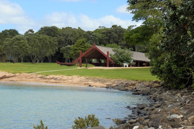 The Waitangi Treaty Grounds along the coast of New Zealand