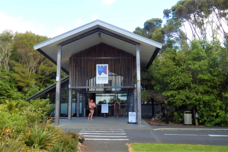 The entrance to the Waitangi Treaty Grounds in New Zealand