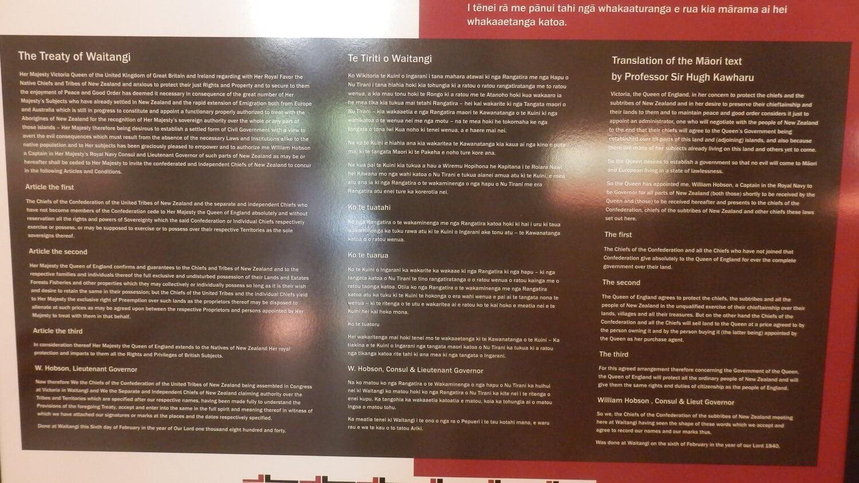 The text of the Waitangi Treaty Grounds