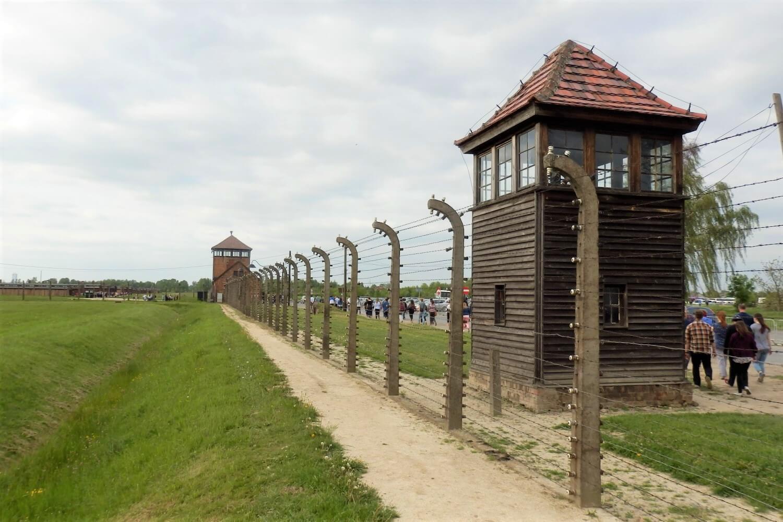 Barbed Wire at concentration camp Auschwitz II Birkenau