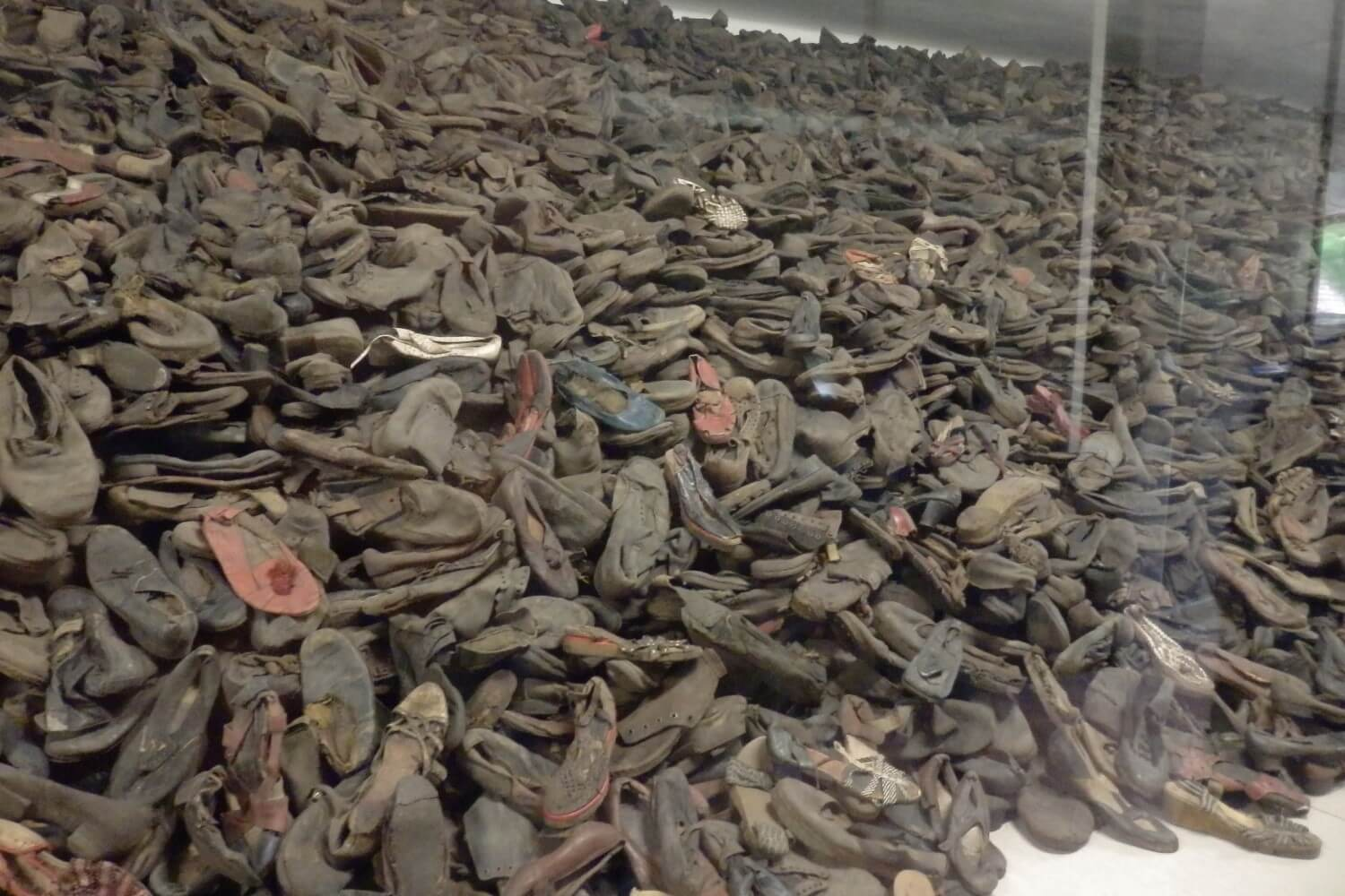 Evidence: shoes of victims at Auschwitz I