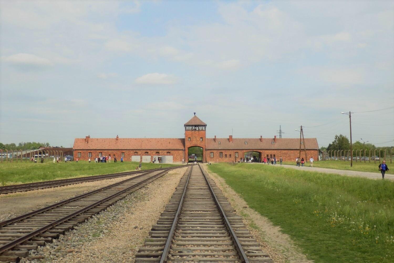 The train to Auschwitz-Birkenau in Poland