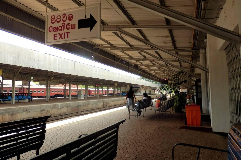The railway station of Anuradhapura