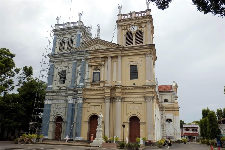 The St. Mary Church in Negombo, Sri Lanka