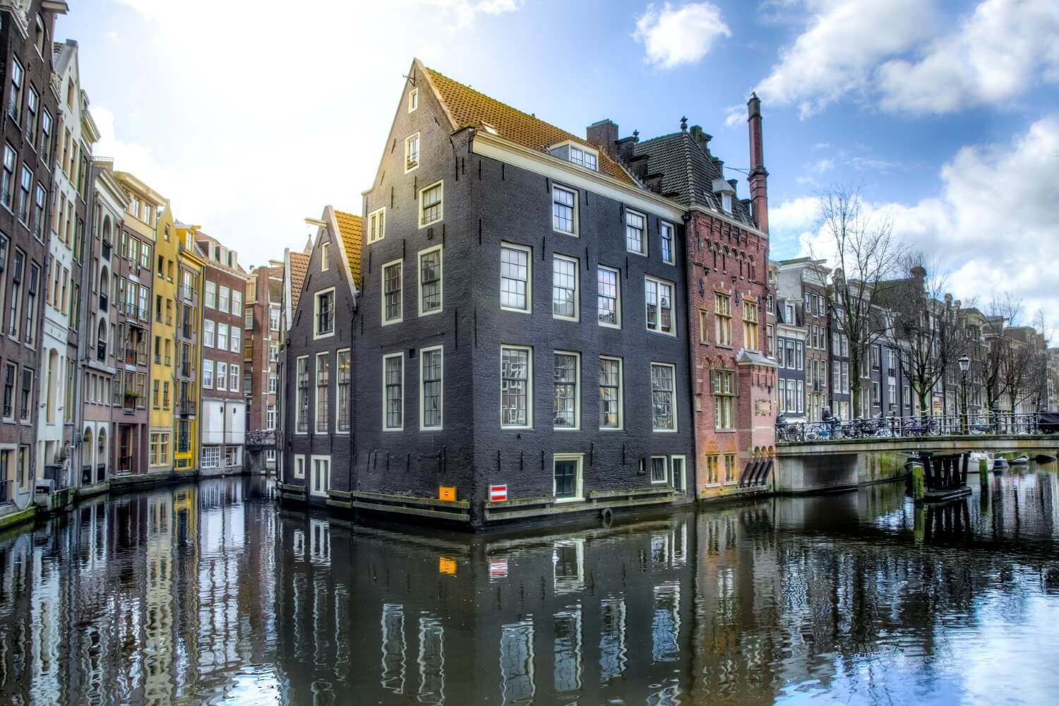 Beautiful old houses in Amsterdam