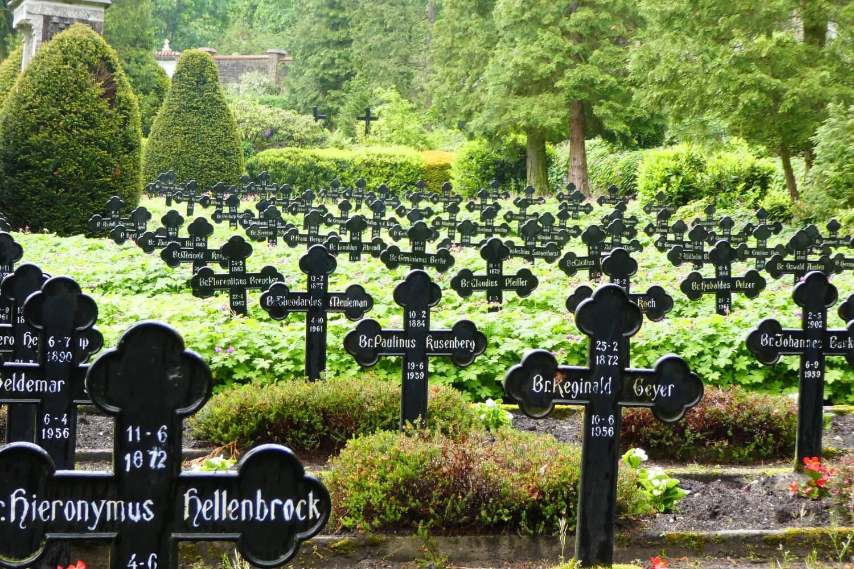The beautiful cemetery in Steyl, Limburg